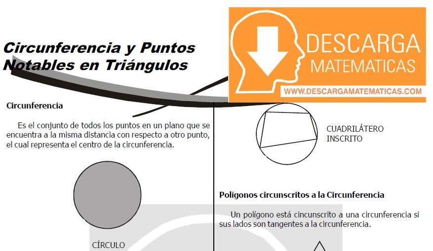 DESCARGAR CIRCUNFERENCIA Y PUNTOS NOTABLES EN TRIÁNGULOS