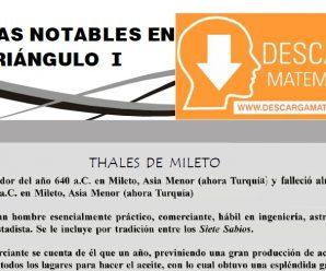 DESCARGAR LÍNEAS NOTABLES EN EL TRIÁNGULO – PRIMERO DE SECUNDARIA