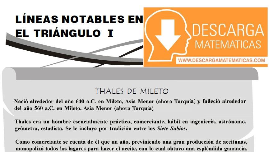 DESCARGAR LÍNEAS NOTABLES EN EL TRIÁNGULO - PRIMERO DE SECUNDARIA