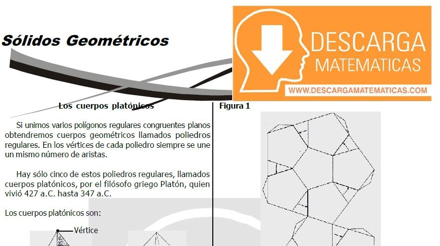 DESCARGAR SÓLIDOS GEOMÉTRICOS - PRIMERO DE SECUNDARIA
