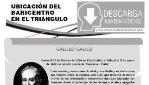 UBICACIÓN DEL BARICENTRO EN EL TRIÁNGULO - PRIMERO DE SECUNDARIA