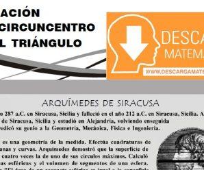 UBICACIÓN DEL CIRCUNCENTRO EN EL TRIÁNGULO – PRIMERO DE SECUNDARIA