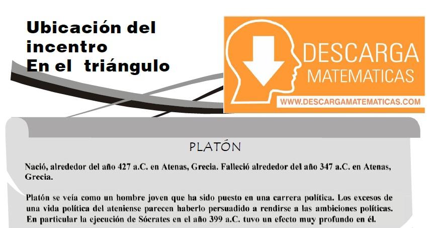 UBICACIÓN DEL INCENTRO EN EL TRIÁNGULO - PRIMERO DE SECUNDARIA