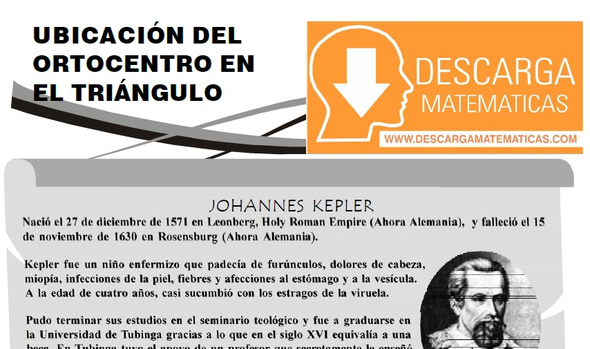 UBICACIÓN DEL ORTOCENTRO EN EL TRIÁNGULO - PRIMERO DE SECUNDARIA