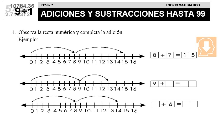 02 ADICIONES Y SUSTRACCIONES HASTA 99- SEGUNDO DE PRIMARIA