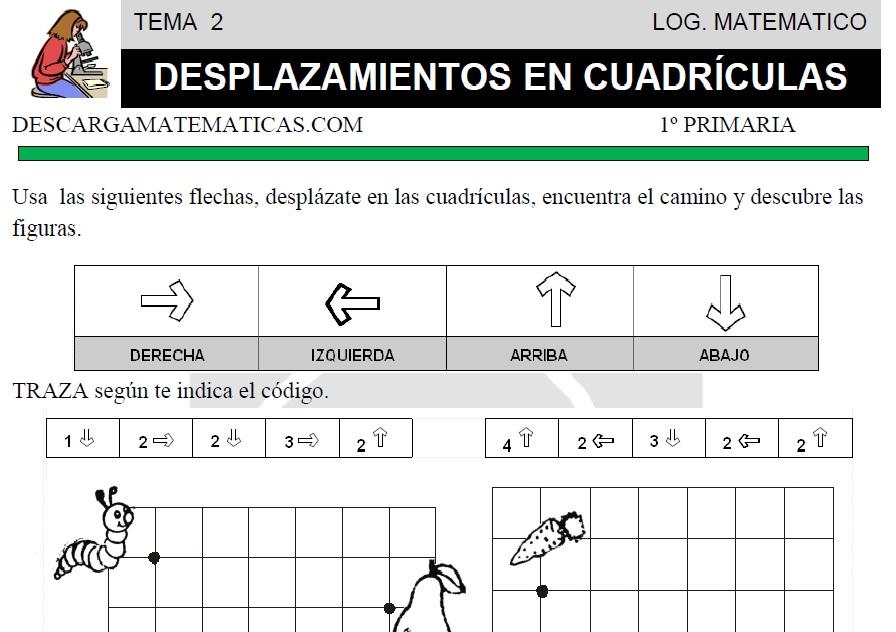 DESCARGAR DESPLAZAMIENTOS EN CUADRICULAS- MATEMATICA PRIMERO DE ...