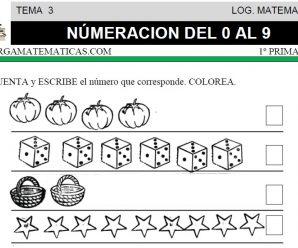 DESCARGAR NUMERACION DEL 0 AL 9 – MATEMATICA PRIMERO DE PRIMARIA