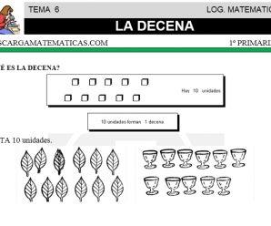 DESCARGAR LA DECENA – MATEMATICA PRIMERO DE PRIMARIA