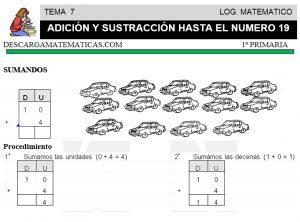 07 ADICIÓN Y SUSTRACCIÓN HASTA EL 19