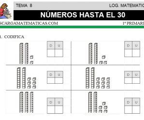 DESCARGAR NUMEROS HASTA EL 30 – MATEMATICA PRIMERO DE PRIMARIA