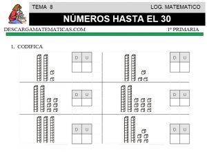 08 NUMEROS HASTA EL 30 - MATEMATICA PRIMERO DE PRIMARIA