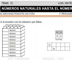 DESCARGAR NUMEROS NATURALES HASTA EL NÚMERO 99 – MATEMATICA PRIMERO DE PRIMARIA