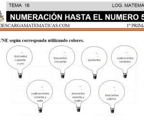 DESCARGAR NUMERACION HASTA EL NÚMERO 500 – MATEMATICA PRIMERO DE PRIMARIA