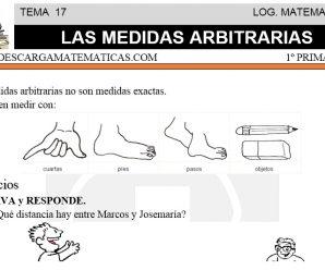 DESCARGAR LAS MEDIDAS ARBITRARIAS – MATEMATICA PRIMERO DE PRIMARIA