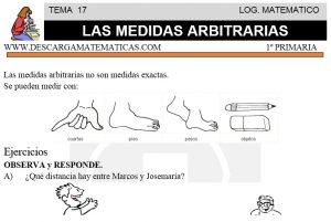 17 LAS MEDIDAS ARBITRARIAS - PRIMERO DE PRIMARIA