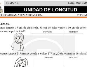 DESCARGAR UNIDAD DE LONGITUD – MATEMATICA PRIMERO DE PRIMARIA