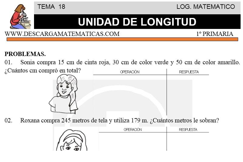 18 UNIDAD DE LONGITUD - PRIMERO DE PRIMARIA