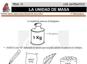19 UNIDADES DE MASA - PRIMERO DE PRIMARIA