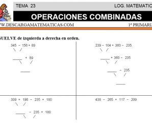DESCARGAR OPERACIONES COMBINADAS – MATEMATICA PRIMERO DE PRIMARIA