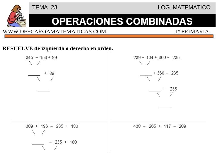 DESCARGAR OPERACIONES COMBINADAS – MATEMATICA PRIMERO DE PRIMARIA ...