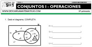 01 CONJUNTOS I - OPERACIONES - QUINTO DE PRIMARIA