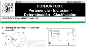 01 CONJUNTOS I - SEXTO DE PRIMARIA