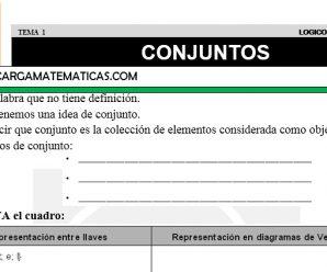 DESCARGAR CONJUNTOS – MATEMATICA TERCERO DE PRIMARIA
