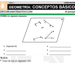DESCARGAR GEOMETRIA CONCEPTOS BASICOS – MATEMATICA CUARTO DE PRIMARIA