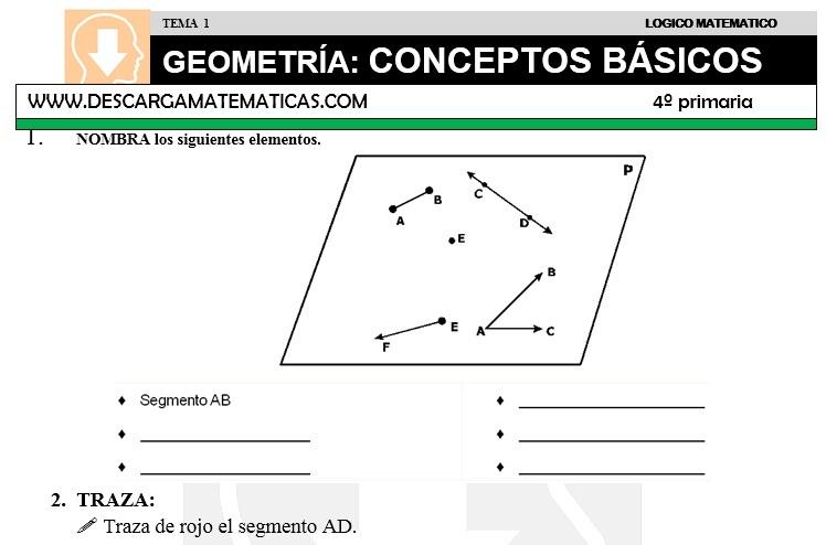 DESCARGAR GEOMETRIA CONCEPTOS BASICOS – MATEMATICA CUARTO DE ...