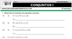 02 CONJUNTOS - QUINTO DE PRIMARIA