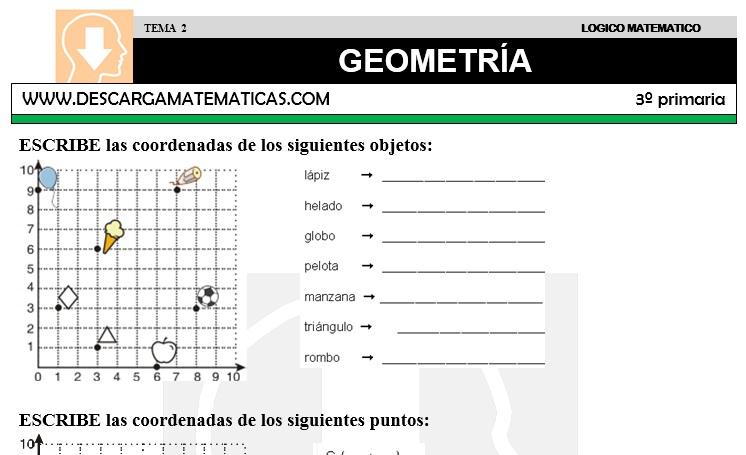 02 GEOMETRÍA - TERCERO DE PRIMARIA