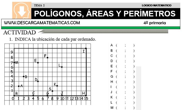 02 POLÍGONOS, ÁREAS Y PERÍMETROS - CUARTO DE PRIMARIA