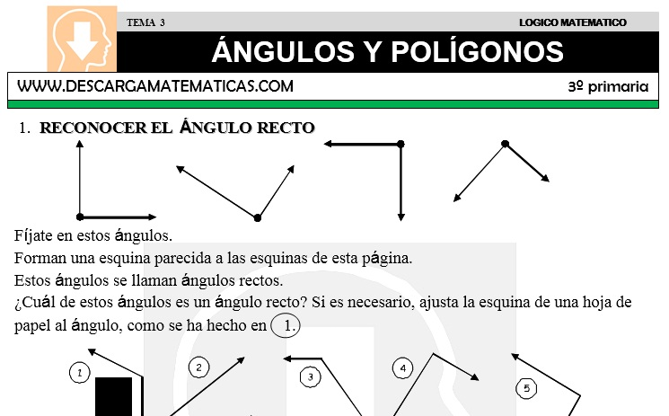 DESCARGAR ANGULOS Y POLIGONOS – MATEMATICA TERCERO DE PRIMARIA ...