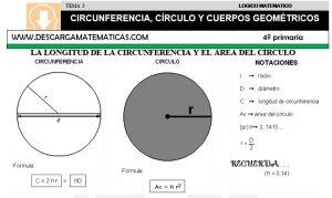03 CIRCUNFERENCIA, CÍRCULO Y CUERPOS GEOMÉTRICOS - CUARTO DE PRIMARIA