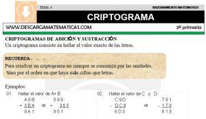 04 CRIPTOGRAMA - CUARTO DE PRIMARIA