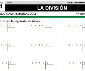 DESCARGAR DIVISION – MATEMATICA CUARTO DE PRIMARIA