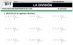 07 LA DIVISIÓN - CUARTO DE PRIMARIA
