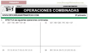 07 OPERACIONES COMBINADAS - QUINTO DE PRIMARIA