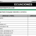 DESCARGAR EJERCICIOS DE ECUACIONES – MATEMÁTICA QUINTO DE PRIMARIA