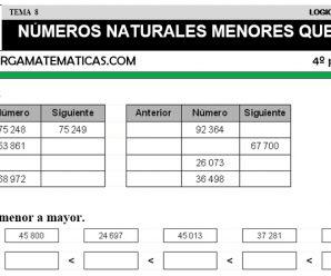 DESCARGAR NUMEROS HASTA 100000 – MATEMATICA CUARTO DE PRIMARIA