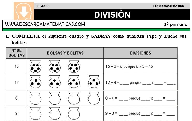 Descargar Division Matematica Tercero De Primaria Descarga Matematicas