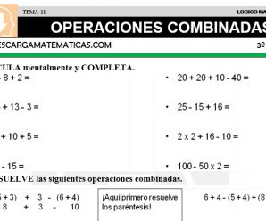 Operaciones Combinadas – Descarga Matematicas