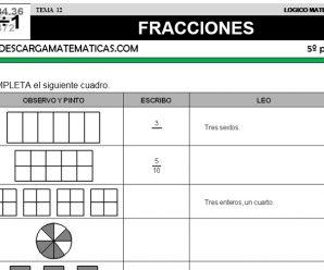 DESCARGAR FRACCIONES – MATEMATICA QUINTO DE PRIMARIA