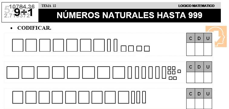 12 NÚMEROS NATURALES HASTA 999 - SEGUNDO DE PRIMARIA