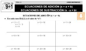 14 ECUACIONES DE ADICIÓN Y LA SUSTRACCIÓN - SEGUNDO DE PRIMARIA