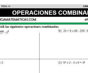 DESCARGAR OPERACIONES COMBINADAS – MATEMATICA CUARTO DE PRIMARIA
