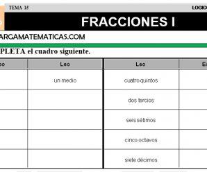 DESCARGAR FRACCIONES I – MATEMATICA CUARTO DE PRIMARIA