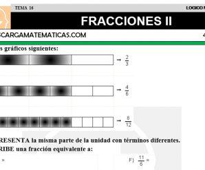 DESCARGAR FRACCIONES II – MATEMATICA CUARTO DE PRIMARIA