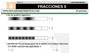 16 FRACCIONES II - CUARTO DE PRIMARIA