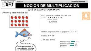 16 NOCIÓN DE MULTIPLICACIÓN - SEGUNDO DE PRIMARIA